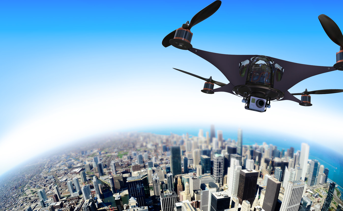 Image of flying drone