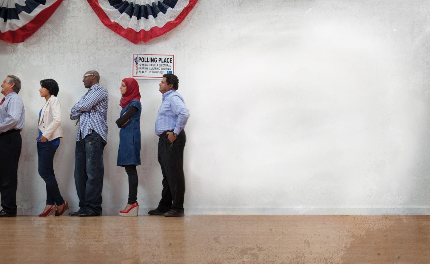 Image of voting queue