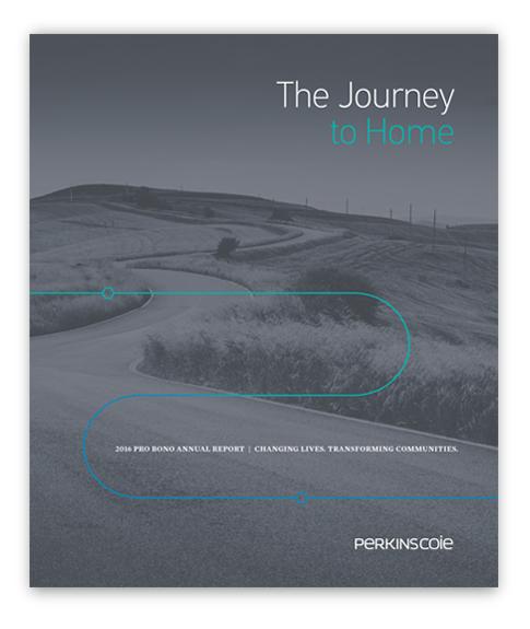 2016 Pro Bono Annual Report Cover