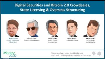image of the speakers from the presentation on Digital Securities