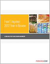 thumbnail image of Food Litigation 2017 Year in Review