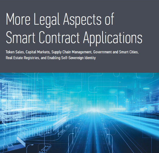 Cover image of More Legal Aspects of Smart Contract Applications