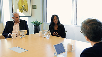 Judy Jennison and Dominique Shelton Leipzig with Neil Suggs, Vice President and Deputy General Counsel at Microsoft