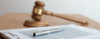 Image of a document and gavel