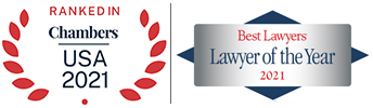 chambers 2021 and best lawyers 2021 award badges